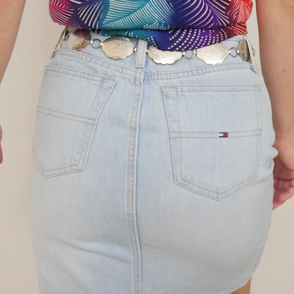 VTG 90s Tommy Hilfiger Denim Pencil Skirt w/ Slit